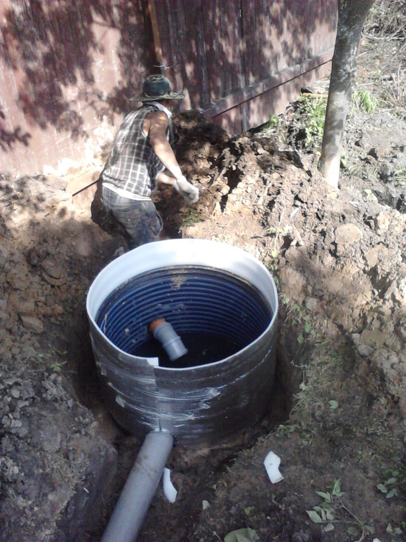 Канализация из покрышек: как копать и выкопать 50